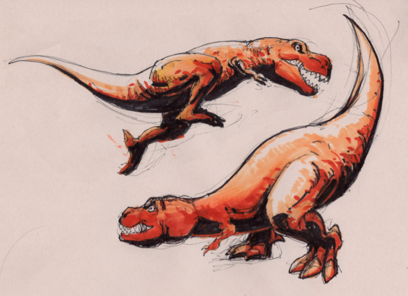 Dinosaur-Quick-Sketches